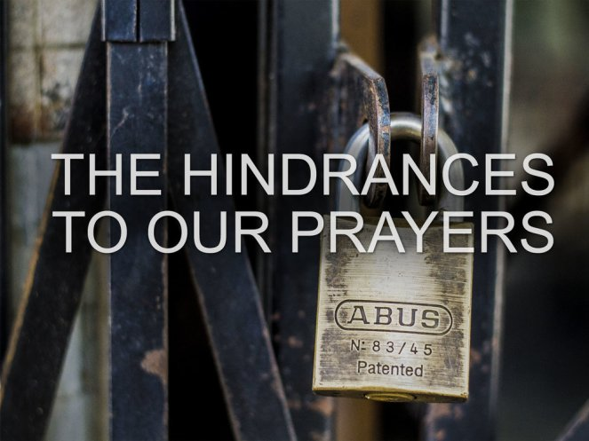 Image result for HINDRANCE TO PRAYER