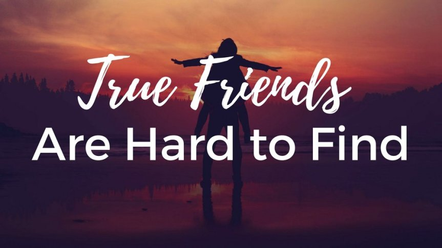 Image result for TRUE FRIENDS ARE HARD TO FIND